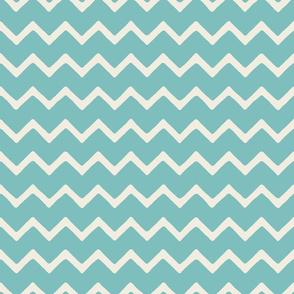 Babouche bold chevron stripe Aqua