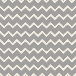 Babouche bold chevron stripe Cloud Grey