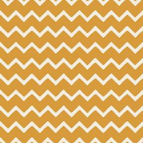 Babouche bold chevron stripe Golden Lantern