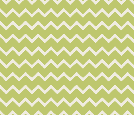 Babouche bold chevron stripe Lime fabric by stitchyrichie on Spoonflower - custom fabric