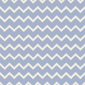 Babouche bold chevron stripe Morning Sky Stripe