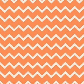 Babouche bold chevron stripe Orange Peel