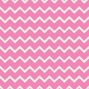 Babouche bold chevron stripe Peony Pink