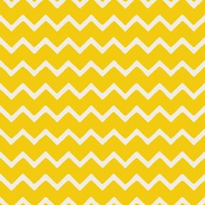 Babouche bold chevron stripe Saffron