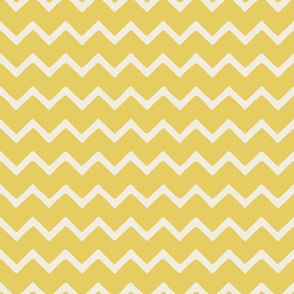 Babouche bold chevron stripe Turmeric Yellow