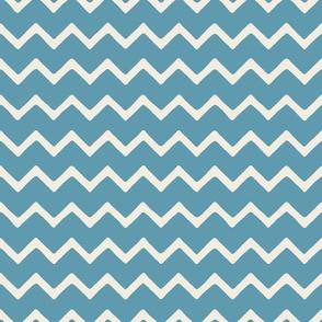 Babouche bold chevron stripe Vintage Teal