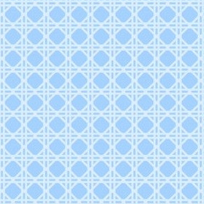 Cane Rattan Lattice in Light Blue