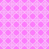 Cane Rattan Lattice in Hot Pink