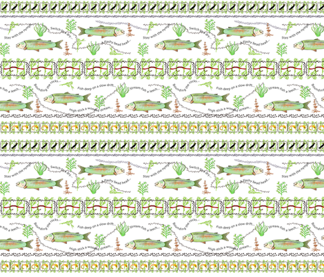 Rainbow Trout Pattern 1C fabric by marion_mwr on Spoonflower - custom fabric