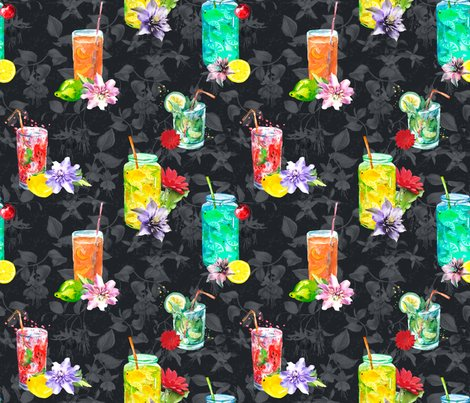 Rwatercolor-summer-fruity-drink-dark-grey-black-by-floweryhat_shop_preview