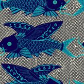 blue fish tiny