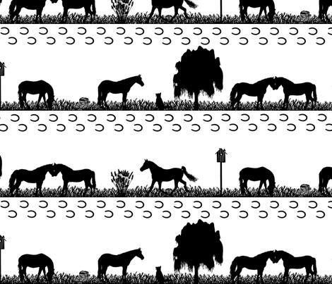 Horseday fabric by nevasb0712 on Spoonflower - custom fabric