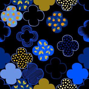 Moroccan Tiles (black)