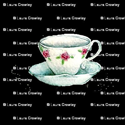 "tea cup 4"" x 4"""