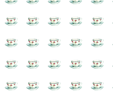 "tea cup 4"" x 4"" fabric by knitifacts on Spoonflower - custom fabric"