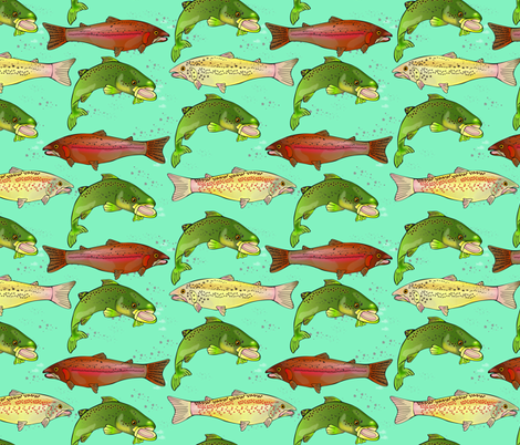 German Brown Trout Pattern 2T fabric by marion_mwr on Spoonflower - custom fabric