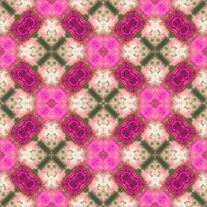 Fuzzy Pink Diamonds
