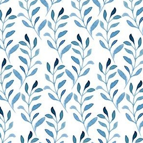 Watercolor Spring Summer Blue Vines Cute