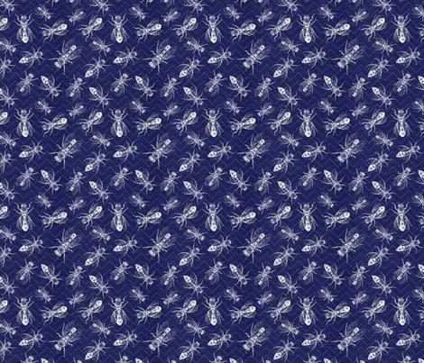 Chevron Bees fabric by heckadoodledo on Spoonflower - custom fabric
