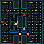 Pacman Retro Video Game Pattern EXTRA LARGE