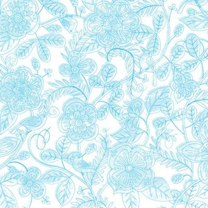 Kimiko's Garden in Blue