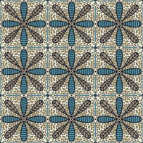 mosaic flower tiles