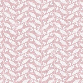 Leaves in Dusty Pink