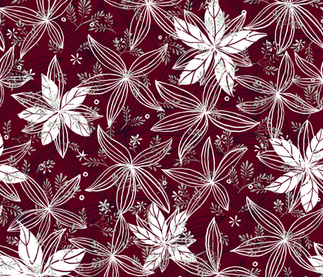 Poinsettia - © Lucinda Wei fabric by lucindawei on Spoonflower - custom fabric