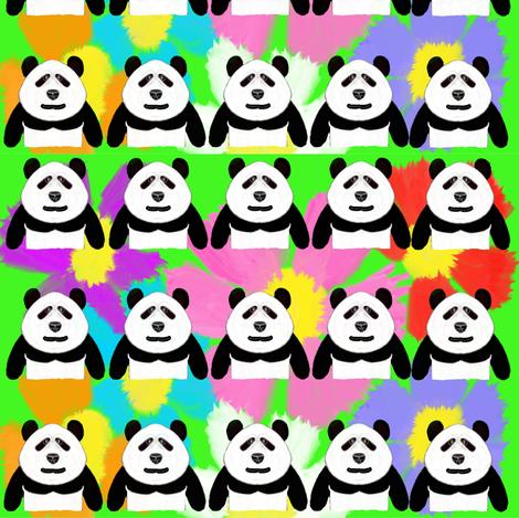 Patrick Panda Flowers fabric by fabric_is_my_name on Spoonflower - custom fabric