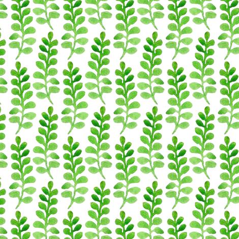 Green Sprigs fabric by pellerinadesign on Spoonflower - custom fabric