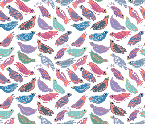 Happy Birds fabric by jvclawrence on Spoonflower - custom fabric