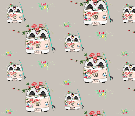 Kombi Rose fabric by hunnellekari on Spoonflower - custom fabric