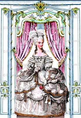 Marie Antoinette queen france french palace baroque rococo royal portraits white gowns gloves victorian elegant gothic curtains doors floral lolita egl pouf 18th century Bouffant historical  border frame ballgowns neoclassical princesses royalty versaille