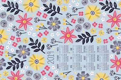 2019 Garden Joy Tea Towel Calendar