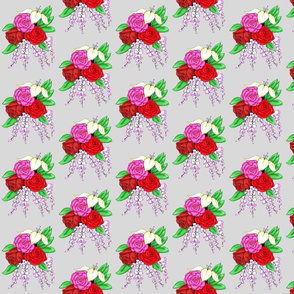 Bouquet of Roses- Light Grey Background