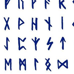Blue Nordic Runes // Large