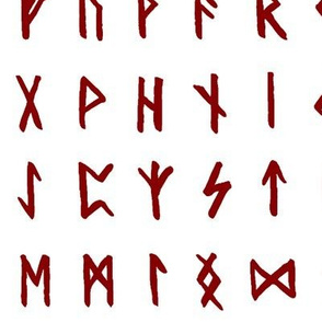 Red Nordic Runes // Large