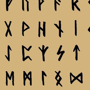 Nordic Runes on Calico // Large