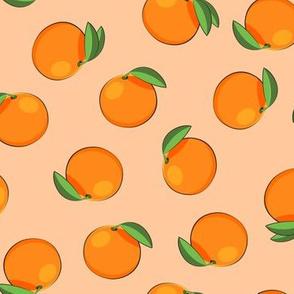 clementines on orange - summer citrus fabric