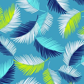 Palm-Leaves-Floating-Tropical-blue