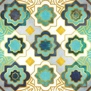 Marrakesh gold and teal geometry inspiration
