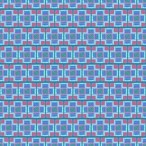 Blue and Pink Detailed Tiles Pattern