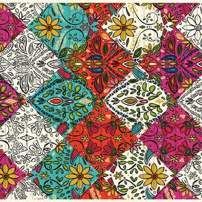 aziza patchwork tea towel