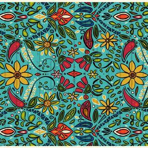 aziza turquoise tea towel
