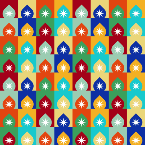 07575335 : arch dome star : egyptian fabric by sef on Spoonflower - custom fabric
