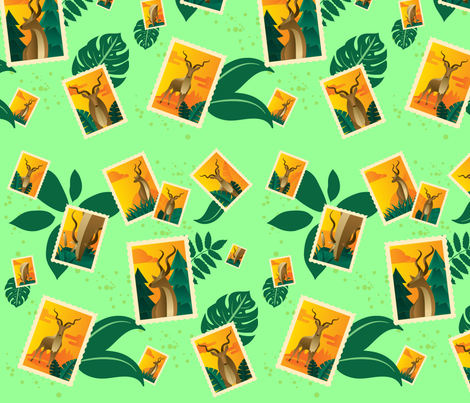 Come Visit the Kudu! fabric by la_panim on Spoonflower - custom fabric