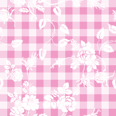 Gingham Rococo sorbet fabric by lilyoake on Spoonflower - custom fabric