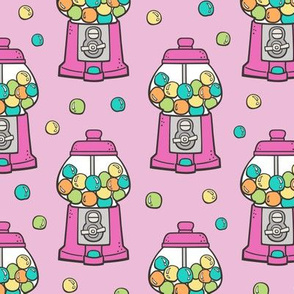 Bubble Gumball Machine Pink on Pink