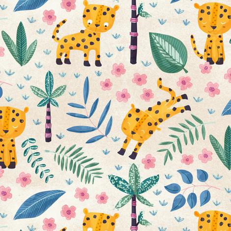 Jungle Leopard fabric by martamunte on Spoonflower - custom fabric