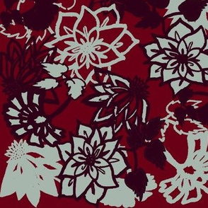 Stylized florals holiday
